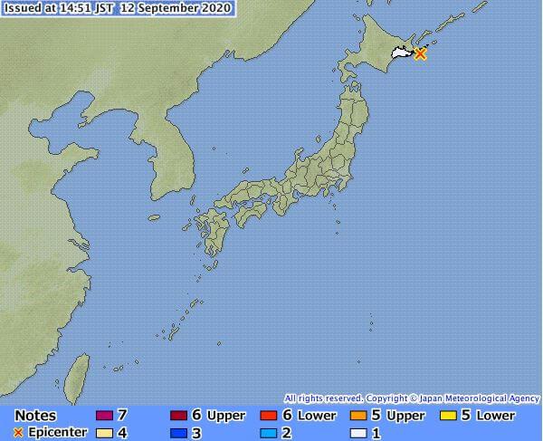 जापानमा ६.१ म्याग्निच्युडको भूकम्प