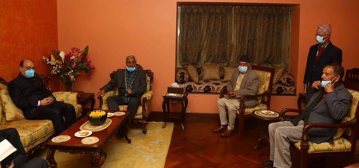 भारतीय विदेश सचिव र काँग्रेस सभापति देउवाबीच भेटवार्ता