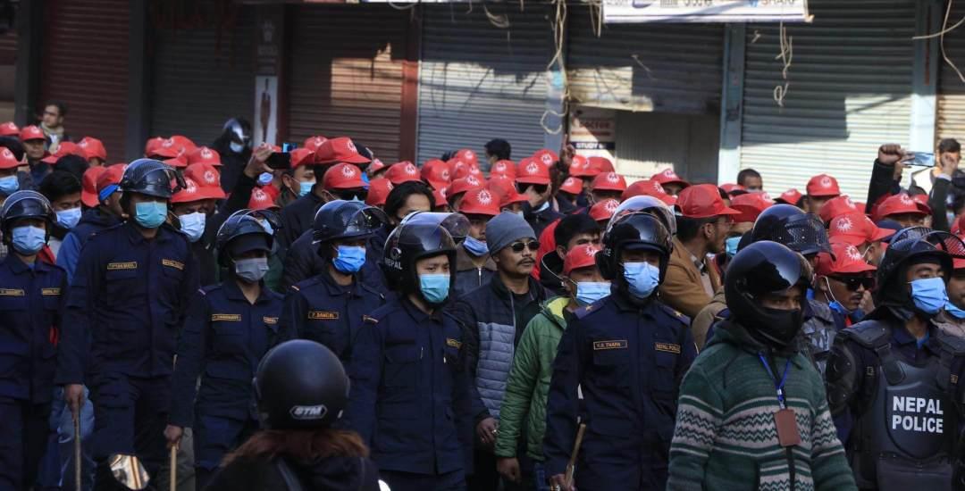 'केपी ओली आई लभ यू' भन्दै काठमाडौंमा मार्चपास
